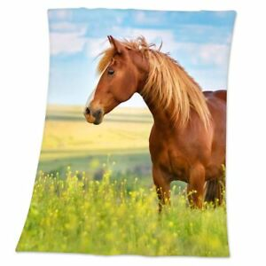 Pferd Weich Fleece Decke Fotografische Bild Kinder Mädchen