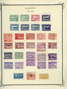 COLOMBIA Scott Specialty Album Page Lot #21 - SEE SCAN - $$$
