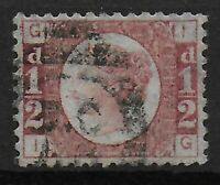 SG48. 1/2d.Rose-Red Plate 19. VFU & Well Centred With Full Perfs.C.£55. Ref:0655