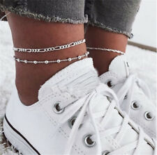 Foot Chain Jewelry Ankle Bracelet Boho Silver Barefoot Sandal Beach Anklet