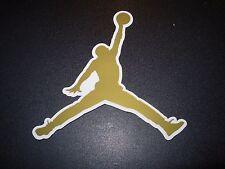 """NIKE Sticker JORDAN GOLD JUMPMAN Swoosh Logo 4.25"""" air jordan flight"""