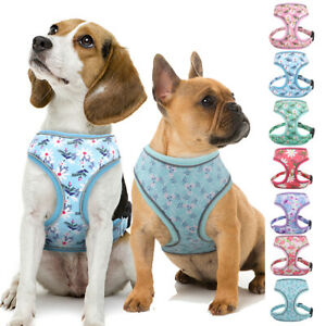 Cute Floral Dog Cat Vest Harness for Small Large Dogs Reflective Beagle S M L XL