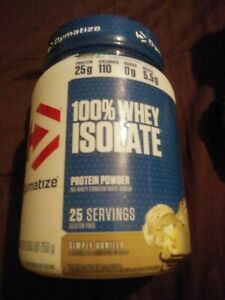 Dymatize 100% Whey Protein Isolate Powder, Simple Vanilla 25 servings,1 BOTTLES