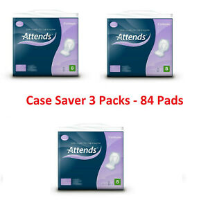 Attends Contours 8 Pads 3 Packs of 28 Incontinence Aid Pad (2499ml) Absorbency