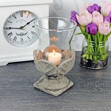 Windlicht Keramik Glas Sockel Teelichthalter Teelicht Garten Shabby Landhaus