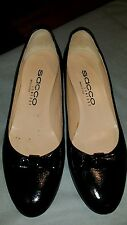 Sacco Comfort Ballet Flat Pumps Womens 37.5 black Patent Leather Round Toes