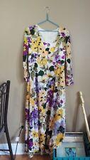 Incredible Vintage 1960's 1970's Floral Dress by Julie Miller Size 14