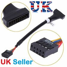 9Pin USB2.0 Female port to 20Pin USB3.0 male Motherboard header converter cable