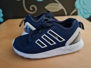 Adidas zx flux blue trainers uk 5 infant