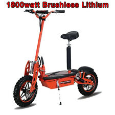 Super 1800 watt Lithium Brushless 48v Electric Scooter, worlds fastest scooter!