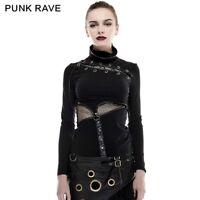 New Fashion Rock Women Girls gothic Visual Kei T-shirt Punk Steampunk Top