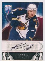 09/10 BE A PLAYER BAP SIGNATURE AUTOGRAPH AUTO RON HAINSEY THRASHERS *50413