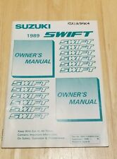 1989 Suzuki Swift owners manual new old stock