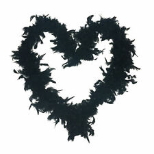 1920s Flapper Feather Boa 20s Party Black Boa Fancy Dress Up Costume Halloween