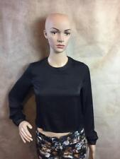 Zara Cropped Blouse With Faux Leather Detail Size XS B4 Ref 2135 439