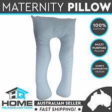 1 Maternity Pillow Sleeping Body Support 82x140cm Baby Blue