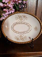 More details for vintage crown devon fieldings regal tray condiments white & gold lustre rose
