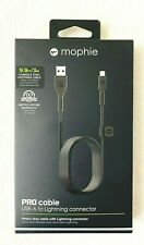 Sealed in box Mophie 3 Meter PRO MFI Lightning Cable iPhone iPad iPod Black