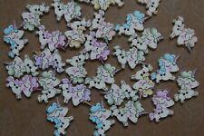 Kinderknöpfe Kinderknopf Kunststoffknöpfe Knopf Knöpfe Fuß Füße Blau 16 mm