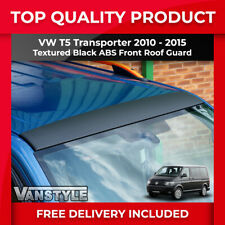 VW T5 TRANSPORTER 2010-15 ABS BLACK FRONT UPPER ROOF GUARD PROTECTOR COVER TRIM