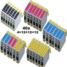 40x tinte für Epson Stylus D78 SX218 DX4400 DX4050 DX7400 DX7450 SX115 DX8450 20