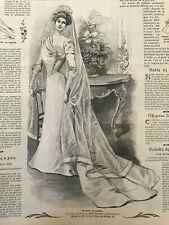 MODE ILLUSTREE SEWING PATTERN Aug 25 ,1901 Bride dress, Dressing gown, Reception