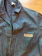 BIG MAC Men's Sanforized Denim Vintage Coveralls Size 44 R Mechanic Farm Overall