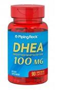 Piping Rock DHEA 100mg 90 Kapseln (dehydroepiandrosterone) EXP 2022