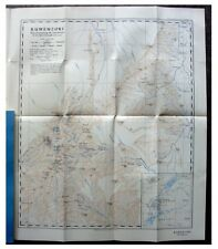 1933 Humphreys  RUWENZORI MOUNTAIN  Unexplored Regions  COLOR MAP  Panoramas -12