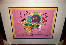 Flintstones Cel  JUKEBOX ROCK signed by Hanna Barbera Rare Animation Art cell