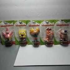 "New Nickelodeon 2.5"" Mini Figures Set of 5 (Spongbob Patrick Ren Stimpy Arnold)"