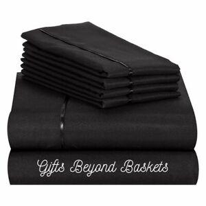 Bamboo Elegance 6 pc Deep Pocket Sheet Sets by Lexington, All Sizes - 31 Colors
