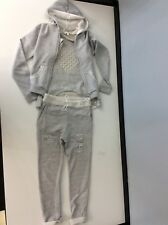 Miss Grant Grey Tracksuit 3 Piece Bottoms, Top, Hoodie Age 9 Years Size 36 Vgc