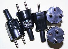 5 Sück Netzkabel Stecker 2 polig 10-16 A 250Vac Schraubtechnik EU Typ Restp.1011