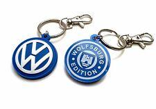 VW Keyring GTI Golf Rubber Key chain Volkswagen VR6 G60 R32 Passat 2 sides