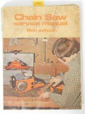 1976 Chain Saw Service Manual 5th Edition Intertec McCulloch Husqvarna Skil ++++