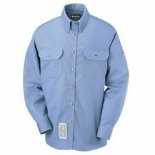 NEW w/ Tags Bulwark 8.4 ATPV Men's Light Blue FR Uniform Long Sleeve Work Shirt