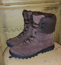 WENGER SWISS ARMY BROWN SUEDE WOOL SHERPA WINTER MUKLUK BOOTS 7 M APRES