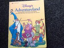 Walt Disney's Adventureland  vintage 1989 A Golden Book (large hardcover) LOVELY