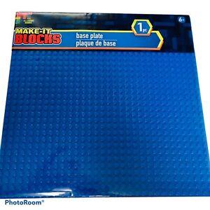 "MAKE-IT BLOCKS BLUE 10x10"" 32x32 Stud Fits Brick Brands Base Plate Baseplate NEW"