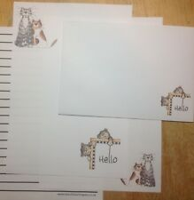 New! Big Hello Playful Cats Letter Writing Paper Set with matching envelopes