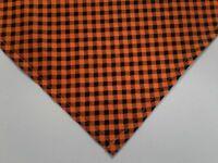Buster Brown Orange Black Plaid Halloween Dog Bandanas Custom Made by Linda M,L
