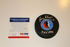 JEAN BELIVEAU SIGNED HOCKEY HALL OF FAME LOGO PUCK PSA/DNA AUTHENTIC COA