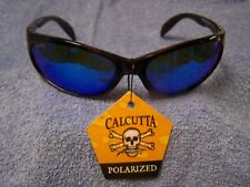 Calcutta Smoker Tortoise Frame Blue Mirror Polarized Lens Sunglasses