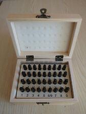 36 Stück 3mm Letter Nummer Stempel Stanz Set Blatt Metall Sicherheit