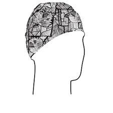 Geometric Microlux Breathable Helmet Dome Liner Cap Skull Cap Biker Snowmobile