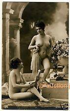 #3 Nude Girl Friends in Classical pose/atto studio * VINTAGE PHOTO PC