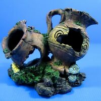 Aquarium Decorations Double Vase Urn Cave 16cm Ornament -Jiuweng Fish Tank Decor