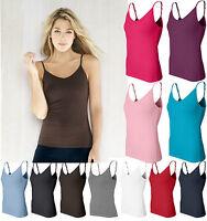 Bella Ladies S M L XL 2XL Spandex Camisole Yoga Tank Top Shelf Bra Womens 960
