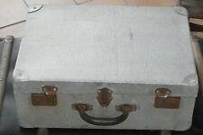 Ancienne valise medium design vintage metal aluminium années 1950/60 deco loft